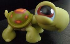 Littlest pet shop LPS # 08 Orange and Green Turtle *