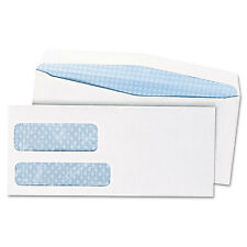 Double Window Security Tinted Envelope, Gummed Flap, #10, White, 500/Box
