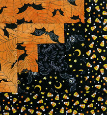 { 16 } Pre-Sewn Already Pieced Log Cabin Quilt Blocks ~ Halloween