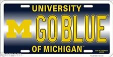 NCAA University of Michigan GOBLUE Wolverines Metal Car License Plate Sign