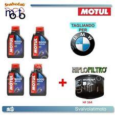 TAGLIANDO FILTRO OLIO + 4LT MOTUL 5000 10W40 BMW R-1200 GS HP2 2007 2008