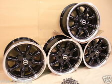 ESCORT CAPRI CORTINA FORD 7X15 DEEP DISH ALLOY WHEEL SET JBW MINILIGHT STYLE.