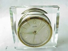 Antique German Bradley Crystal Alarm Clock