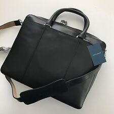 Cole Haan Men's Black Smooth Leather McKinney Attche Slim Brief Briefcase F10388