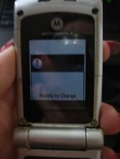 Motorola W385 cell phone flip used silver PARTS slim