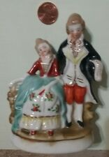 COLONIAL LADY AND GENTLEMEN FIGURINES. MADE IN OCCUPIED JAPAN.