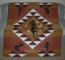 New Kokopelli Dance Polar Fleece Throw Blanket Southwest Flute Soft Gift Dancing