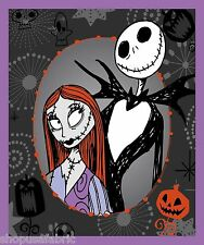 NIGHTMARE BEFORE CHRISTMAS TIM BURTON QUILT PANEL - WALL BANNER on COTTON FABRIC