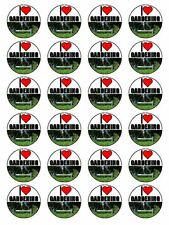 "x24 1.5"" I Love Gardening Gardeners Novelty Cupcake Topper On Edible Rice Paper"