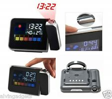 Projection Digital Electronic Alarm Clock Temperature Humidity Calendar Display
