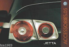 2005 Volkswagen VW JETTA ACCESSORIES / OPTIONs Brochure / Catalog
