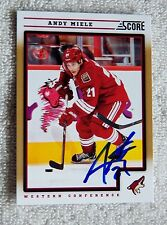 Phoenix Coyotes Andy Miele Signed 12/13 Score Gold Auto Card