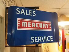 MERCURY SALES SERVICE 1960S ERA SPINNING WALL MOUNT AD SIGN MARAUDER COMET