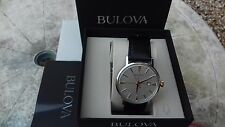 BULOVA Men's Easy Read Dress Watch BOXED with PAPERS  *  NEW  L@@@K