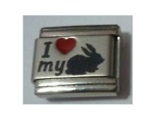 Italian Charms L56  I ( Red Heart) Love My Rabbit