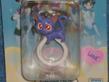 SAILOR MOON KEYCHAIN LUNA VINTAGE BUT BRAND NEW IN PACKAGE BIRTHDAY CHARM TOY