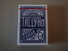 INVISIBLE TALLY-HO CIRCLE BACK BLUE DECK GIMMICKED PLAYING CARDS MAGIC TRICKS