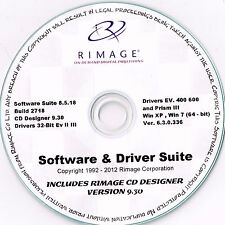 Rimage Everest & PRISMA suite di software e driver e Rimage CD LABELER