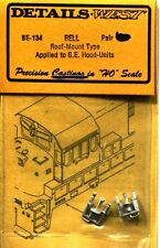 HO SCALE:  DETAILS WEST  134:  BELL..ROOF MOUNT..GE HOOD UNITS
