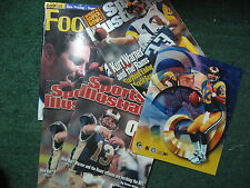 KURT WARNER lot 5 ST. LOUIS RAMS Sports Illustrated BECKETT PRICE GUIDE 8 by 10