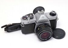 PENTAX K1000 35mm SLR CAMERA & SMC Pentax-M 28mm f3.5 LENS ~Student Choice-Works