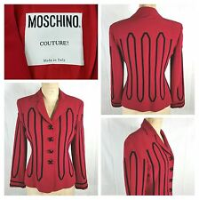 Moschino Couture four button jacket/blazer size US10 red/black X buttons