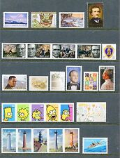 US 2009 Complete Commemorative Year Set 85 Stamps - 45 Stamps & 4 Sheets USA NH