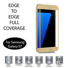 Gold Full Cover Tempered Glass Screen Protector For Samsung Galaxy S7