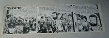 STEVE CANYON original comic strip art, 1950, SIGNED by CANIFF, BRAIN MACHINE