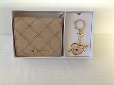MICHAEL KORS CARRY ALL WALLET & KEYCHAIN BOX GIFT SET MSRP $ 118.00