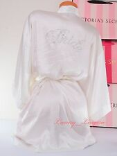 NWT VS VICTORIA'S SECRET I Do Bling Bride Jewel Kimono Robe One Size Cream White
