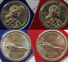 2011 P and D Sacagawea Dollar BU 2 $1 Coins from US Mint Set Native American UNC