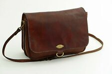 The Bridge Umhängetasche Top Zustand Leder Tasche Patina Leather Bag
