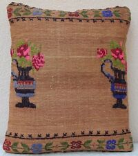 17''X21'' Needlepoint Tapestry Aubusson Kilim Pillow Cover,Weave Hadmade Cushion