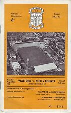 WATFORD V NOTTS COUNTY 1968 VGC - 46 YEARS OLD!