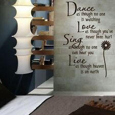 New Dance Love Sing Live Wall Stickers Daisies Carved Wall Stickers Room Decal