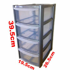 New silver Tower Unit Storage Organizer 4 Drawer Office, School, Garage ,Draw