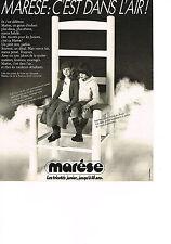 PUBLICITE  1978   MARESE    les tricotées Junior jusque 16 ans