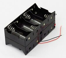 'D' Cell Eight Battery Holder With Wire - Holds 8x D-Cell Batteries