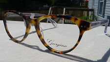 Georgina Eyeglass Frames Women's 704 Brown Tortoise Glasses Rx-able MSRP $78 GT
