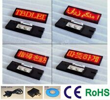 Premium Mini LED Programmable Scrolling Name Badge Sign, 5 Languages Red Color