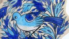 Orient fliese Handbemalt Antik Vogel Motiv Sammlerstück Per.Kunstwerk 16x16 cm