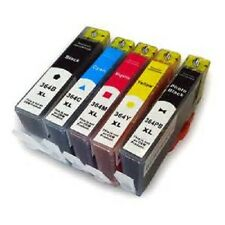 SET 5 REFILLED INK FOR USE IN HP 364XL BLACK CYAN MAGENTA YELLOW PHOTO BLACK 364