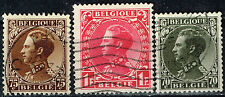Belgium King Leopold in Military Uniform Coronation  stamps 1934