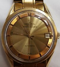 Universal Geneve Polerouter Date. 1960s Mens Automatic Swiss. Stainless Steel.