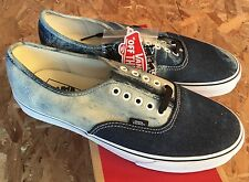 Vans Authentic Acid Denim Black True White Sz 12 NIB Blue