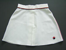 Slazenger Tennis Sport Gonna Piccolo XS Extra w26 in bianco. 1970s 80s itax365 vintage