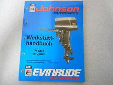 """Manuale d'officina Johnson/Evinrude Motore fuoribordo """" ESSO """" 40 PS Comm."""