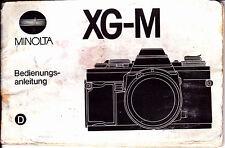 Minolta  XG-M Originale Bedienungsanleitung N.310