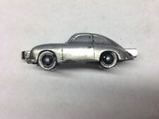 Porsche 356A ref183 pewter effect car emblem on a Tie Clip (slide)